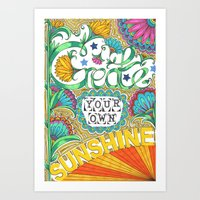 Art Print featuring Create Your Own Sunshine by Vix Harris