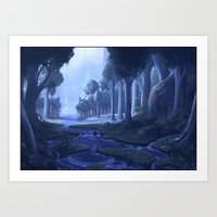 Chordoni waterfalls Art Print