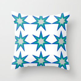 pattern of colorful stars Throw Pillow