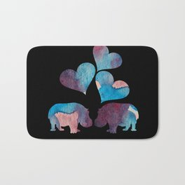 Hippo Art Bath Mat