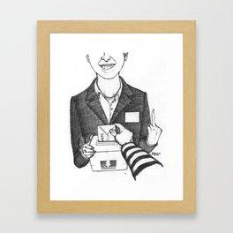 Le Contrat de Confiance Framed Art Print