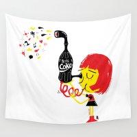 coke Wall Tapestries featuring PerisCoke by Marcelo Badari