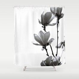BLACK MAGNOLIA Shower Curtain