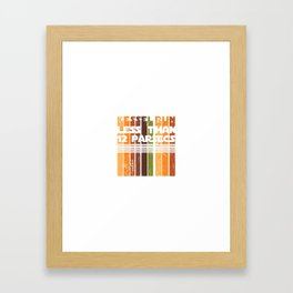 Kessel Retro Run Framed Art Print