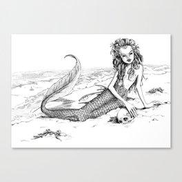 Undine: Creepy Mermaid Canvas Print