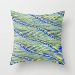 sonic waves Throw Pillow