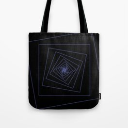 Ride the Spiral - Blue Neon Squares Tote Bag