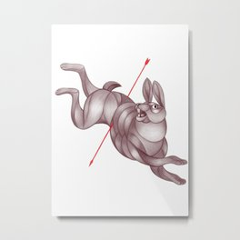 By a Hare Metal Print