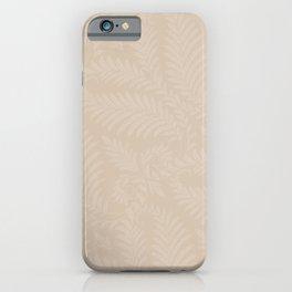Pantone Hazelnut Fancy Leaves Scroll Damask Pattern iPhone Case
