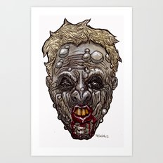 Heads of the Living Dead Zombies: Mean Mouth Zombie Art Print