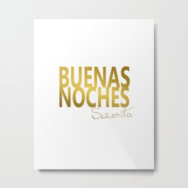 Buenas Noches Wire Sign For Spanish Nursery Decor Metal Print