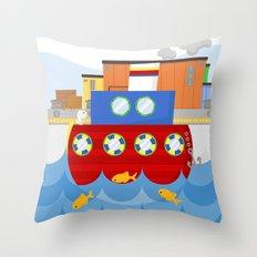 SHIP (AQUATIC VEHICLES) Throw Pillow
