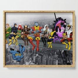 X-Mutants & Super-Friends Lunch Atop A Skyscraper Serving Tray