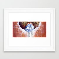 hippy Framed Art Prints featuring Drippy Hippy by Brian DeYoung Illustration