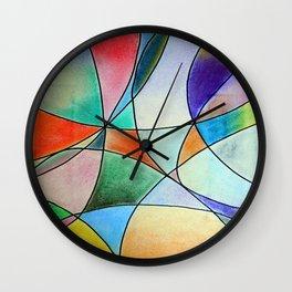 Pastel Abstract 1 Wall Clock