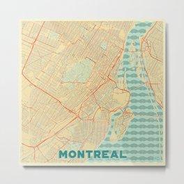 Montreal Map Retro Metal Print