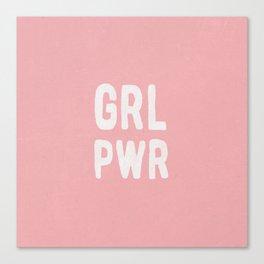 GRL PWR (pink) Canvas Print
