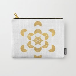 HEXAHEDRON CUBE sacred geometry Carry-All Pouch