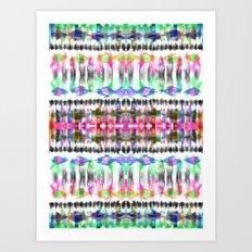 Ikat #8C Art Print