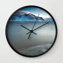 Iceland Lake Wall Clock