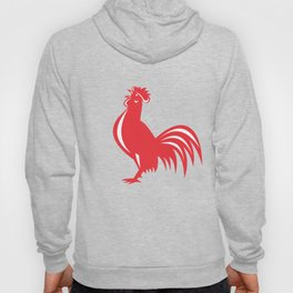 Chicken Rooster Crowing Retro Hoody