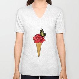 Butterfly Ice Cream Unisex V-Neck