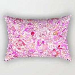 BRAINWASH Pink Floral Rectangular Pillow