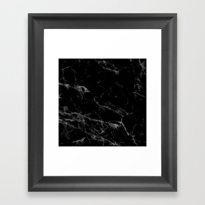 Black Marble Gerahmter Kunstdruck
