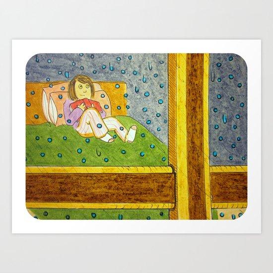 """Raindrops on the Window"" Art Print"