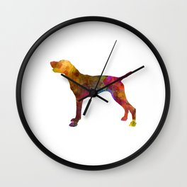 German Shorthaired Pointer in watercolor Wall Clock