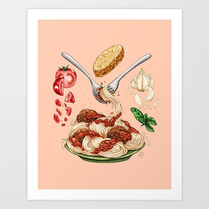 Spaghetti Mandala Art Print