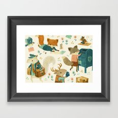 Critter Post Framed Art Print