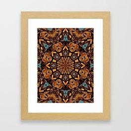 Ball Python Mandala with Blue Kyanite Framed Art Print