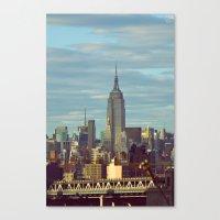 skyline Canvas Prints featuring Skyline by Alex Marcano