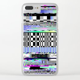 Glitch Ver.2 Clear iPhone Case
