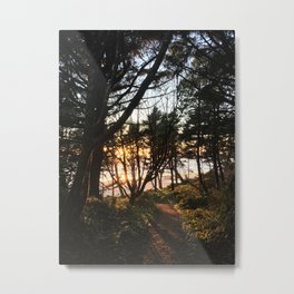 Otter Rock Sunset Metal Print