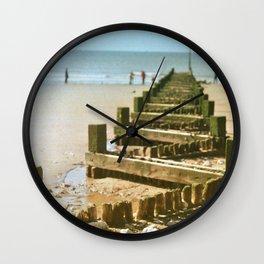 Beach Groyne Wall Clock