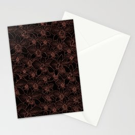 Bronze Wire Orchid Pattern Stationery Cards