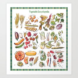 Vegetable Encyclopedia Art Print