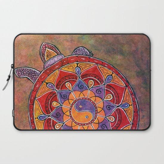 eb04c6e52dc2 Autumn Turtle - yin yang mandala Laptop Sleeve