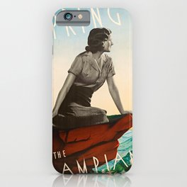 vintage poster Spring in the Grampians iPhone Case