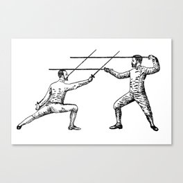 Dueling Hashtag Canvas Print