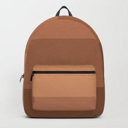 Minimal Retro Sunset / Sunrise - Desert Orange Backpack