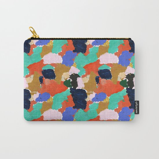 Kara - paint palette abstract minimal modern art bright colorful boho urban painting college dorm Carry-All Pouch