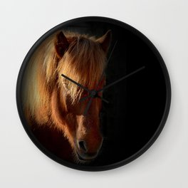 Horse in the dark Wall Clock