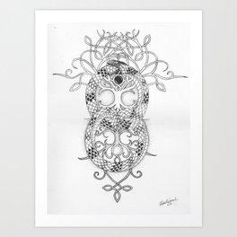 ouroboros tree of life Art Print