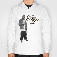 2pac Hoodies featuring Big L //Black&White by Gold Blood