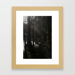 dusk at dawn Framed Art Print