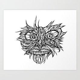 Face Flow Line Art Print