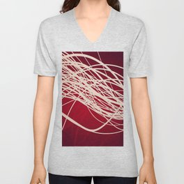 Linear Flow-Red Complex Unisex V-Neck